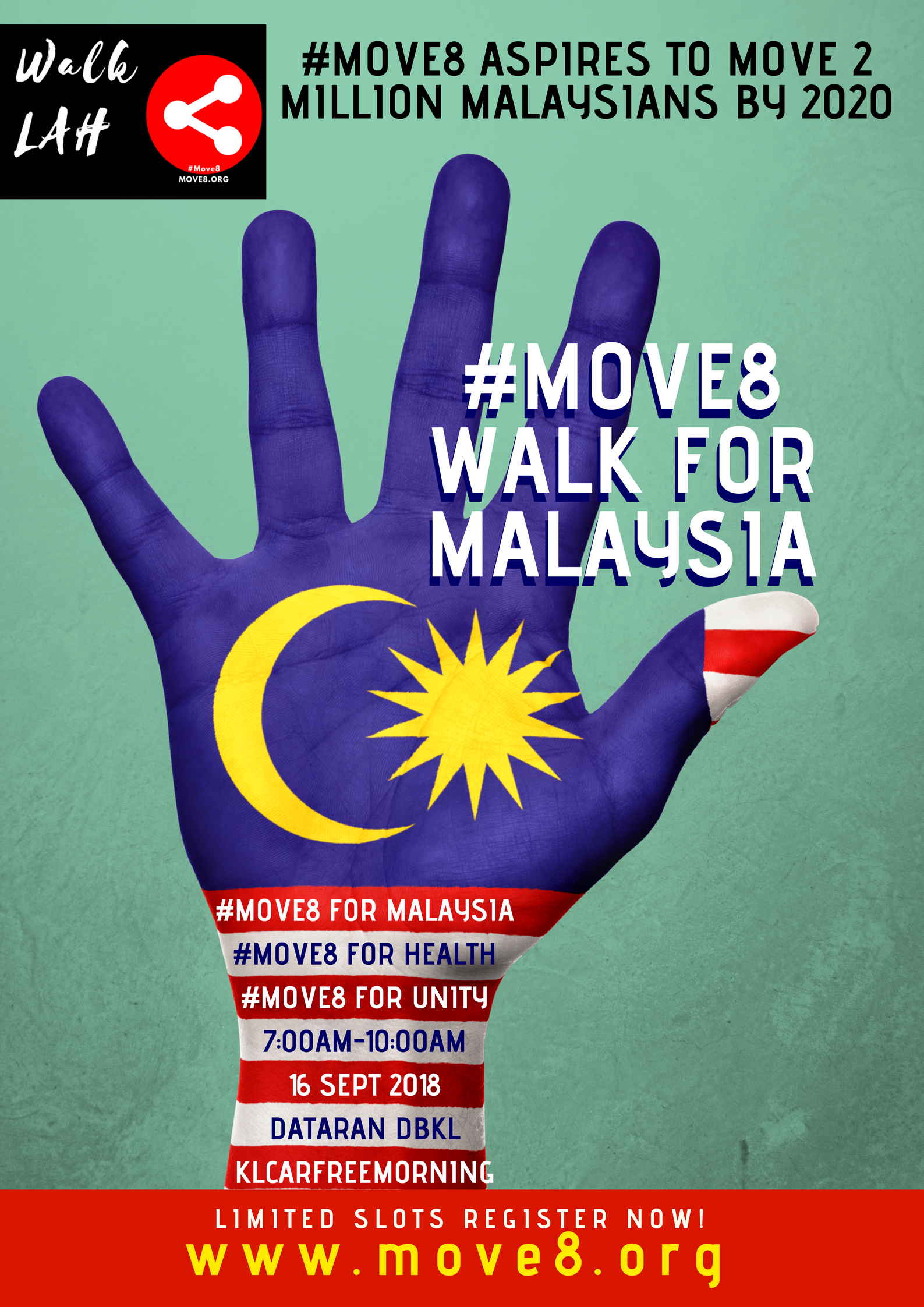 #Move8 for Malaysia Day Walkathon
