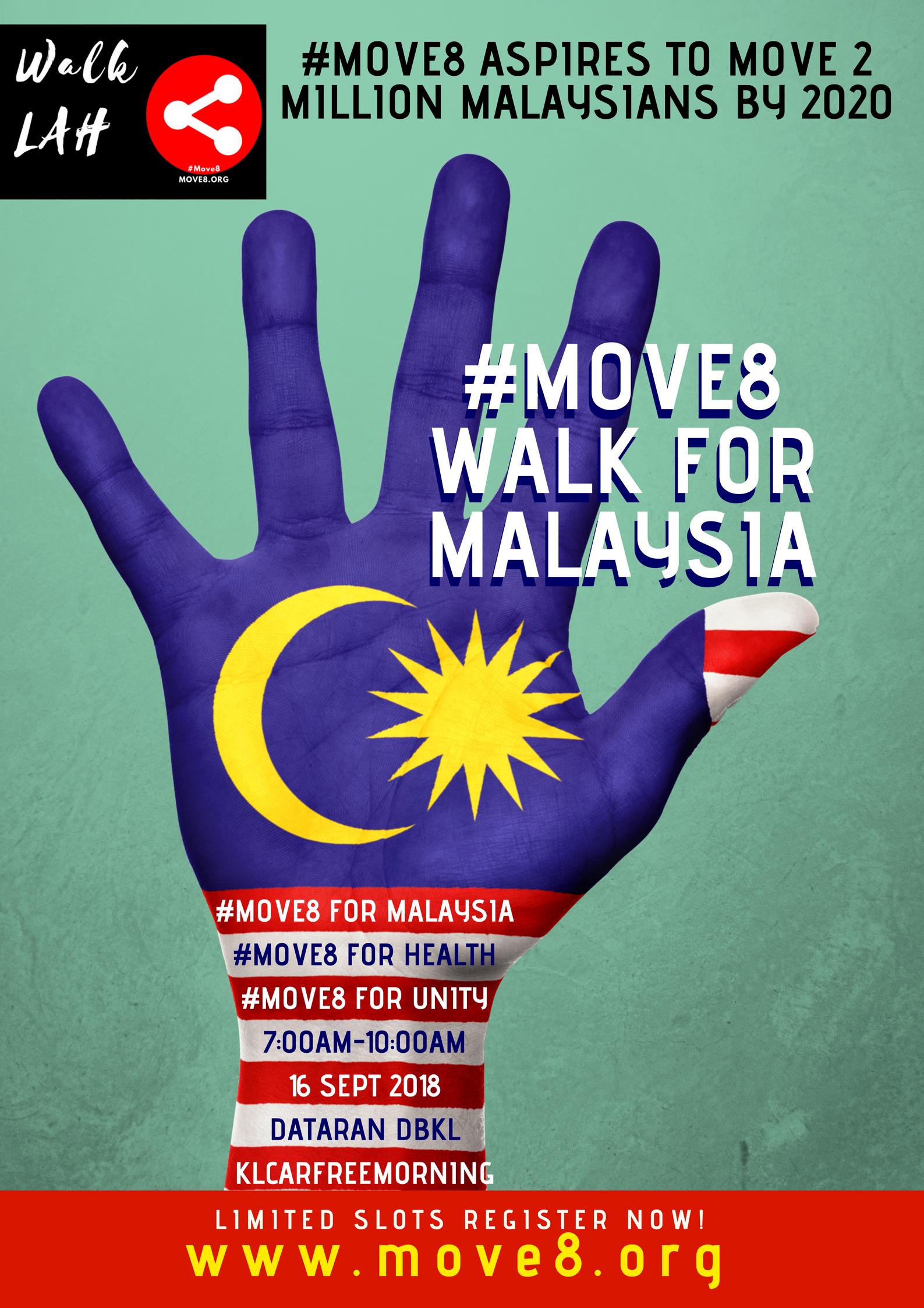 #Move8 for Malaysia Day Walkathon