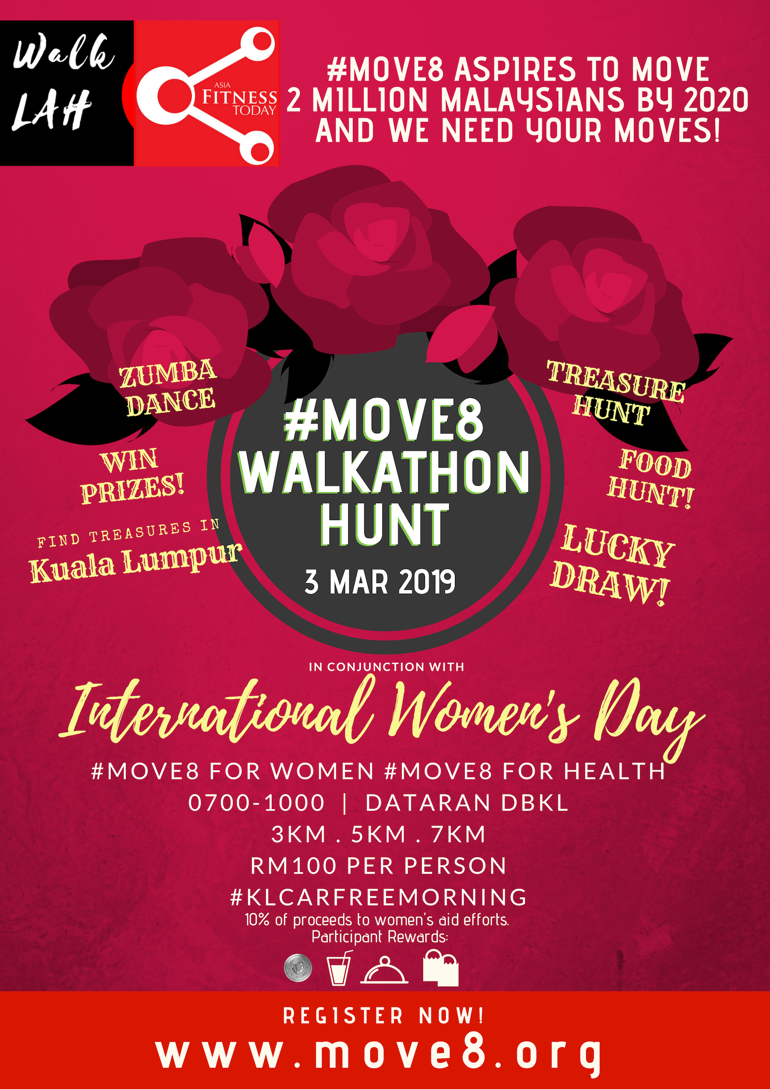 #Move8 7KM Walkathon on International Women's Day